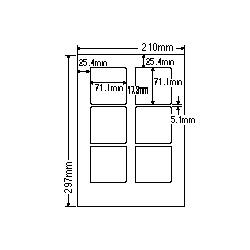 【送料無料】ナナクリエイト SCL8 カラーレーザプリンタ用ラベル光沢紙タイプ(6面)【在庫目安:お取り寄せ】