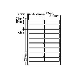 【送料無料】ナナクリエイト SCL4 カラーレーザプリンタ用ラベル光沢紙タイプ(18面)【在庫目安:お取り寄せ】  ラベル シール シート シール印刷 プリンタ 自作