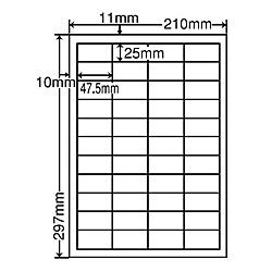 【送料無料】ナナクリエイト MCL32 カラーレーザプリンタ用ラベルマットタイプ(44面)【在庫目安:お取り寄せ】| ラベル シール シート シール印刷 プリンタ 自作