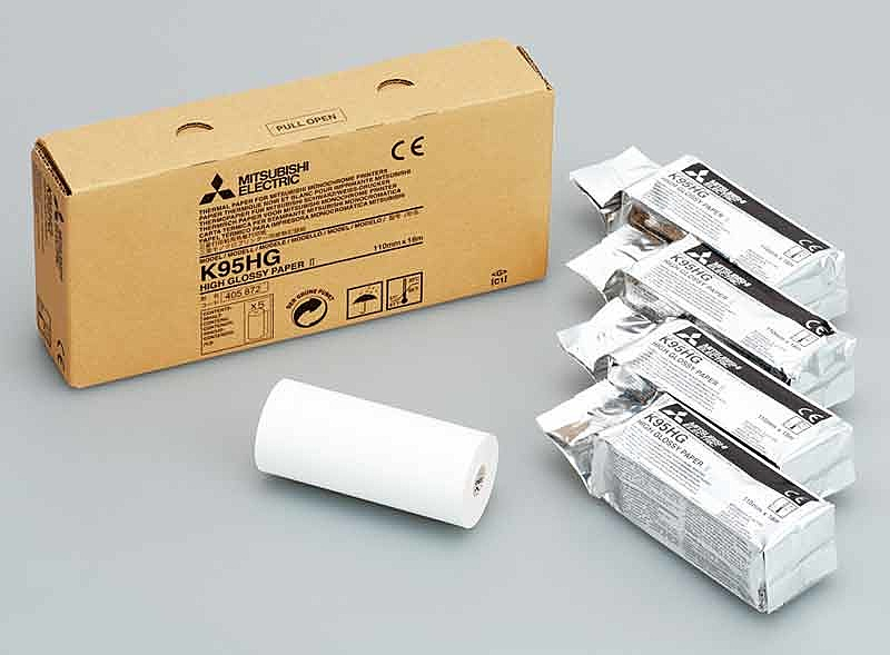 【送料無料】三菱電機 K95HG 強光沢感熱ロール紙II (1箱5ロール入り)【在庫目安:お取り寄せ】