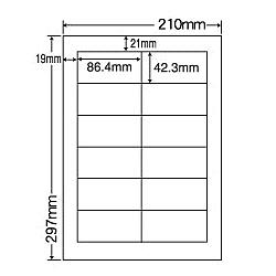 【送料無料】ナナクリエイト MCL11 カラーレーザプリンタ用ラベルマットタイプ(12面)【在庫目安:お取り寄せ】| ラベル シール シート シール印刷 プリンタ 自作