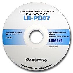 【送料無料】ラインアイ LE-PC87 CAN/ LIN用PCリンクソフト【在庫目安:お取り寄せ】