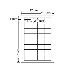 【送料無料】ナナクリエイト SCL34 カラーレーザプリンタ用ラベル光沢紙タイプ(32面)【在庫目安:お取り寄せ】| ラベル シール シート シール印刷 プリンタ 自作