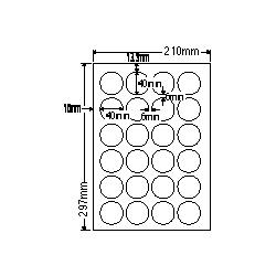【送料無料】ナナクリエイト SCL18 カラーレーザプリンタ用ラベル光沢紙タイプ(24面)【在庫目安:お取り寄せ】| ラベル シール シート シール印刷 プリンタ 自作