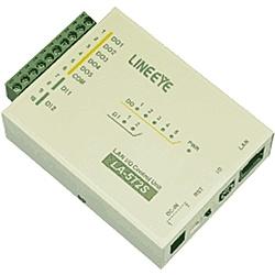 【送料無料】ラインアイ LA-5T2S LAN接続型デジタルIOユニット オープンコレクタ5出力/ フォトカプラ絶縁2入力【在庫目安:お取り寄せ】
