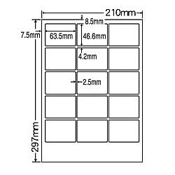 【送料無料】ナナクリエイト MCL3 カラーレーザプリンタ用ラベルマットタイプ(15面)【在庫目安:お取り寄せ】  ラベル シール シート シール印刷 プリンタ 自作