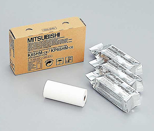 K65HM-CE 高濃度感熱ロール紙(1箱4ロール入り)【在庫目安:僅少】 【送料無料】三菱電機