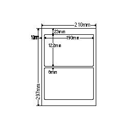 【送料無料】ナナクリエイト SCJ27 カラーインクジェットプリンタ用光沢ラベルA4(2面)【在庫目安:お取り寄せ】| ラベル シール シート シール印刷 プリンタ 自作