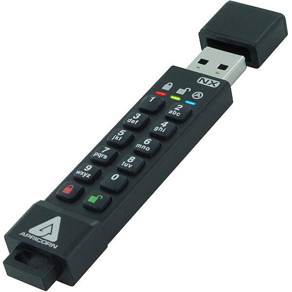 【送料無料】Apricorn ASK3-NX-8GB Aegis Secure Key 3NX - USB3.0 Flash Drive 8GB【在庫目安:お取り寄せ】