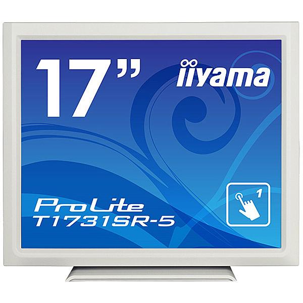 【送料無料】iiyama T1731SR-W5 17型タッチパネル液晶ディスプレイ ProLite T1731SR-5 (抵抗膜方式/ USB通信/ シングルタッチ/ 防塵防滴/ D-SUB/ HDMI/ DP) ピュアホワイト【在庫目安:僅少】