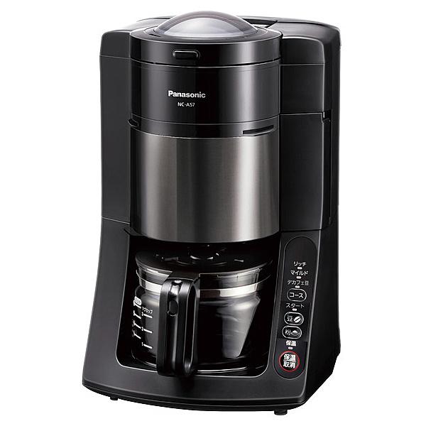 【在庫目安:あり】【送料無料】Panasonic NC-A57-K 沸騰浄水コーヒーメーカー (ブラック)