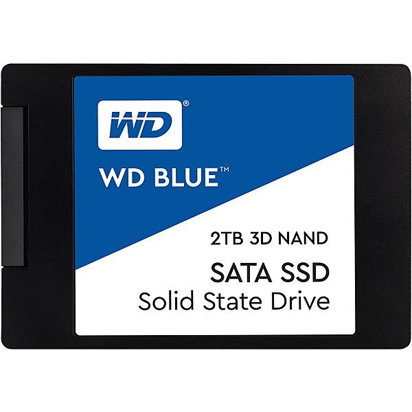 【送料無料】WESTERN DIGITAL WDS200T2B0A WD Blue 3D NANDシリーズ SSD 2TB SATA 6Gb/ s 2.5インチ 7mm cased 国内正規代理店品【在庫目安:お取り寄せ】| パソコン周辺機器 SSD SATA 内蔵