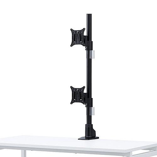【送料無料】サンワサプライ CR-LA1503BK 水平多関節液晶モニタアーム(上下2面)【在庫目安:お取り寄せ】