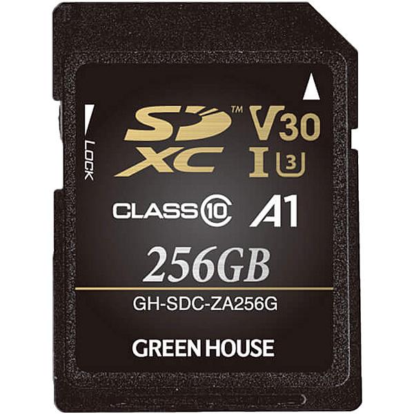 【送料無料】グリーンハウス GH-SDC-ZA256G SDXCカード UHS-I U3 V30 A1 256GB【在庫目安:お取り寄せ】