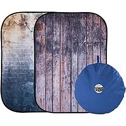 【送料無料】マンフロット LL LB5715 Lastolite アーバン背景 折畳式 1.5×2.1m 古びた壁/ フェンス【在庫目安:お取り寄せ】| カメラ レフ板 リフレクター 反射 ブツ撮り 物撮り