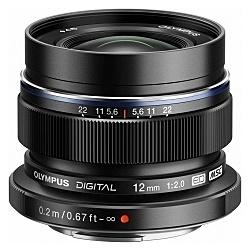 【送料無料】OLYMPUS ED 12mm F2.0BLK マイクロフォーサーズ用 M.ZUIKO DIGITAL ED 12mm F2.0 (ブラック)【在庫目安:お取り寄せ】| カメラ 単焦点レンズ 交換レンズ レンズ 単焦点 交換 マウント ボケ