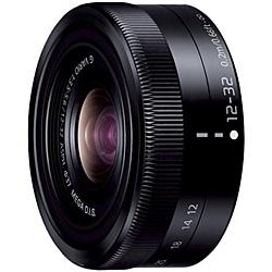【送料無料】Panasonic H-FS12032-K デジタル一眼カメラ用交換レンズ LUMIX G VARIO 12-32mm/ F3.5-5.6 ASPH./ MEGA O.I.S. (ブラック)【在庫目安:お取り寄せ】| カメラ ズームレンズ 交換レンズ レンズ ズーム 交換 マウント
