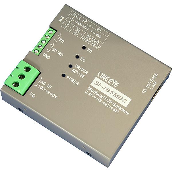 【送料無料】ラインアイ SI-485MB2 Modbus TCPゲートウェイ 絶縁・据置タイプ【在庫目安:お取り寄せ】