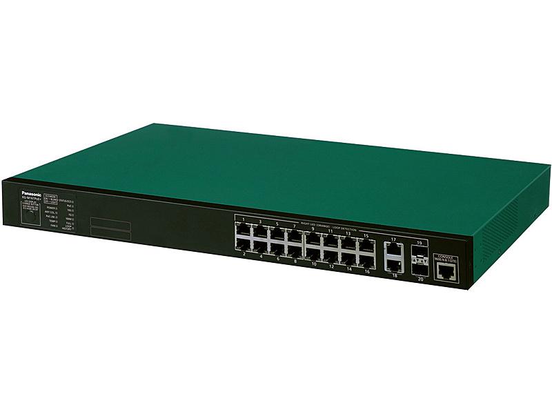 【送料無料】松下ネットワークオペレーションズ PN83169 16ポート PoE給電スイッチングハブ XG-M16TPoE+【在庫目安:僅少】