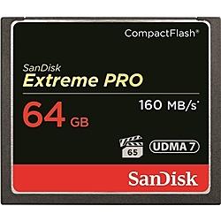 【送料無料】SanDisk SDCFXPS-064G-J61 エクストリーム プロ コンパクトフラッシュカード 64GB【在庫目安:お取り寄せ】
