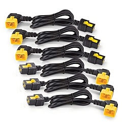 【送料無料】APC AP8716R Power Cord Kit (6 ea) Locking C19 to C20 (90 Degree) 1.8m【在庫目安:お取り寄せ】