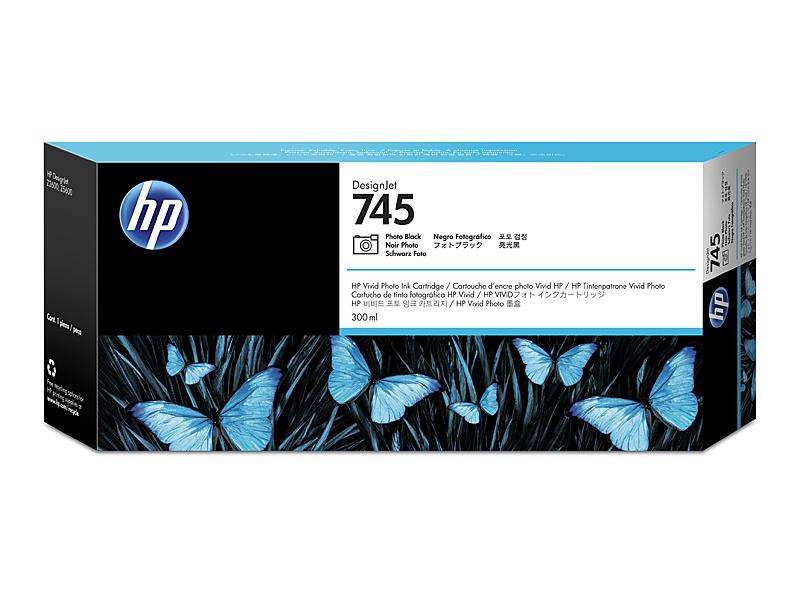 【送料無料】 F9K04A HP745インクカートリッジ フォトBk300ml【在庫目安:僅少】| インク インクカートリッジ インクタンク 純正 純正インク