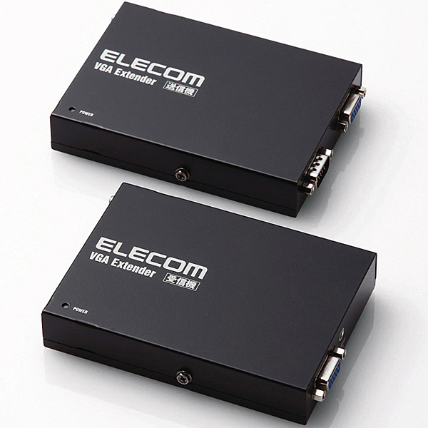 【送料無料】ELECOM VEX-VGA3001S VGAエクステンダー/ 300m【在庫目安:お取り寄せ】| パソコン周辺機器 複合エクステンダー エクステンダー PC パソコン