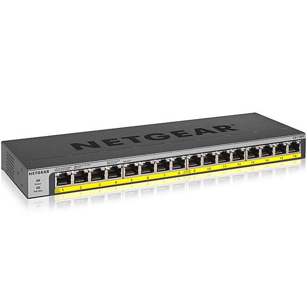 【送料無料】NETGEAR GS116PP-100AJS GS116PP ギガ16ポート PoE+(183W)対応 アンマネージスイッチ【在庫目安:お取り寄せ】