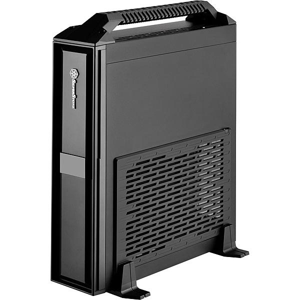 【送料無料】SilverStone SST-ML08B-H スリム型Min-ITXケース ブラック+ハンドル【在庫目安:お取り寄せ】