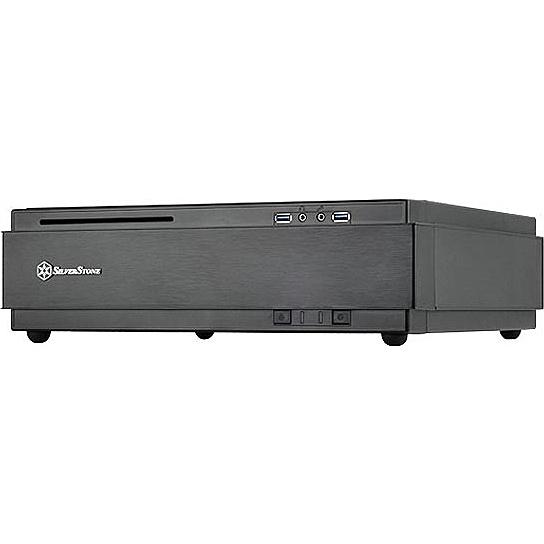 【送料無料】SilverStone SST-ML07B スリム型Min-ITXケース ブラック【在庫目安:お取り寄せ】