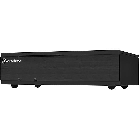 【送料無料】SilverStone SST-ML06B-E スリム型Min-ITXケース ブラック【在庫目安:お取り寄せ】
