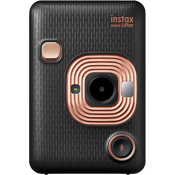 【送料無料】富士フイルム INS HM1 ELEGANT BLACK ハイブリッドインスタントカメラ instax mini LiPlay エレガントブラック【在庫目安:お取り寄せ】