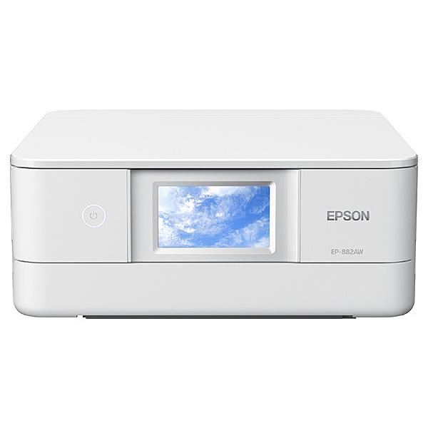 【在庫目安:あり】【送料無料】EPSON EP-882AW A4カラーインクジェット複合機/ Colorio/ 多機能/ 6色/ 有線・無線LAN/ Wi-Fi Direct/ 両面/ 4.3型ワイドタッチパネル/ ホワイト| プリンター プリンタ 複合機 インクジェット