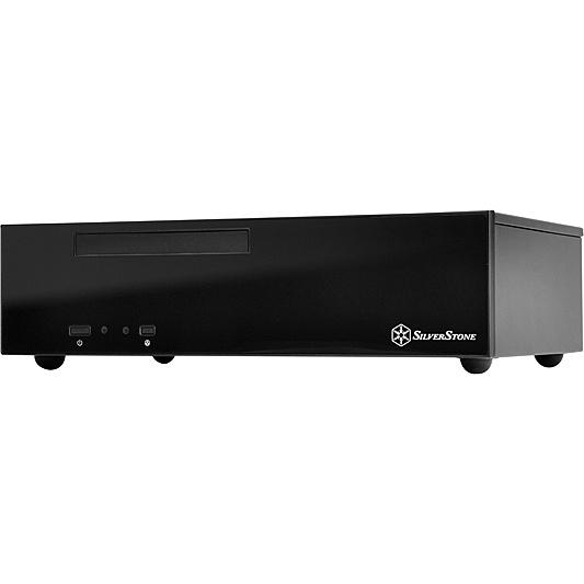【送料無料】SilverStone SST-ML09B スリム型Min-ITXケース ブラック【在庫目安:お取り寄せ】