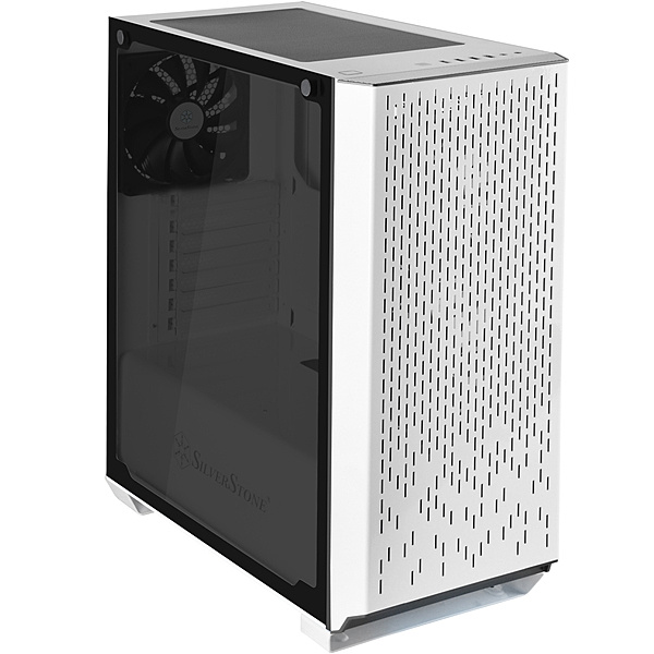 【送料無料】SilverStone SST-PM02W-G タワーケース ホワイト【在庫目安:お取り寄せ】