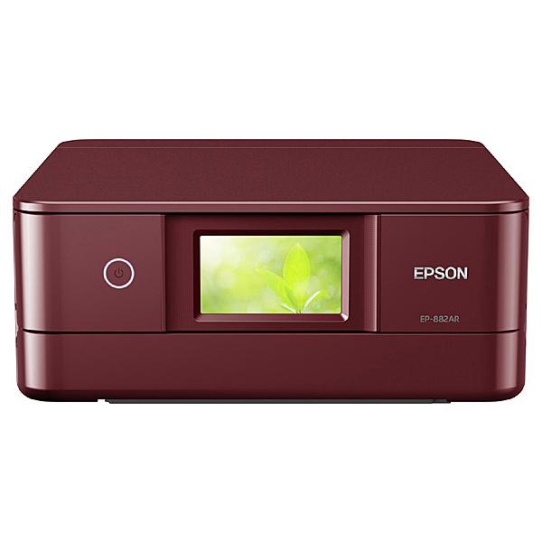 【送料無料】EPSON EP-882AR A4カラーインクジェット複合機/ Colorio/ 多機能/ 6色/ 有線・無線LAN/ Wi-Fi Direct/ 両面/ 4.3型ワイドタッチパネル/ レッド【在庫目安:お取り寄せ】  プリンター プリンタ 複合機