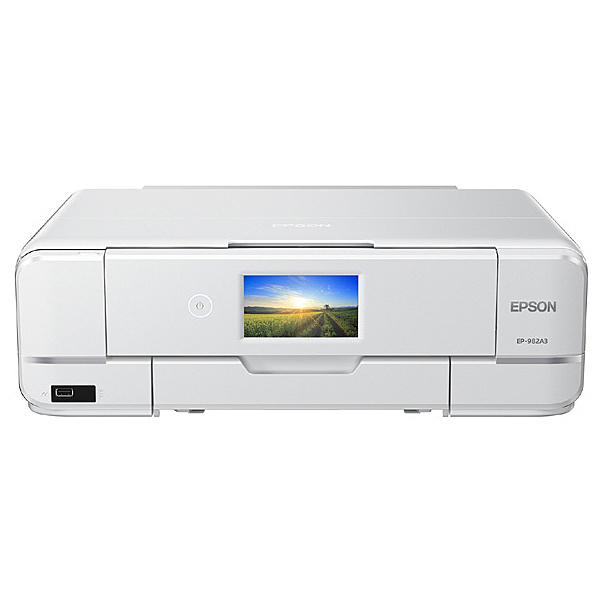 【送料無料】EPSON EP-982A3 A3カラーインクジェット複合機/ Colorio/ 多機能/ 6色/ 有線・無線LAN/ Wi-Fi Direct/ 両面/ 4.3型ワイドタッチパネル【在庫目安:お取り寄せ】  プリンター プリンタ 複合機