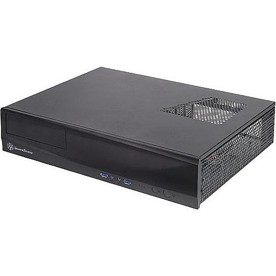 【送料無料】SilverStone SST-ML03B スリム型ケース ブラック【在庫目安:お取り寄せ】