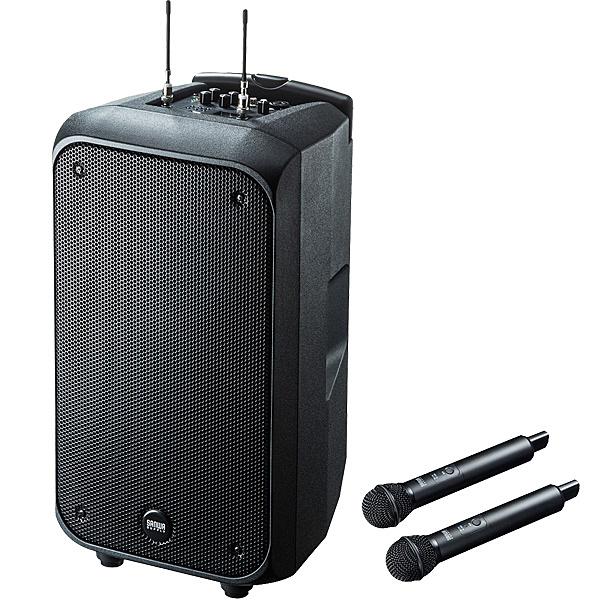 【送料無料】サンワサプライ MM-SPAMP8 ワイヤレスマイク付き拡声器スピーカー【在庫目安:お取り寄せ】| AV機器 業務用 スピーカー オーディオ 音響 AV 屋内 室内