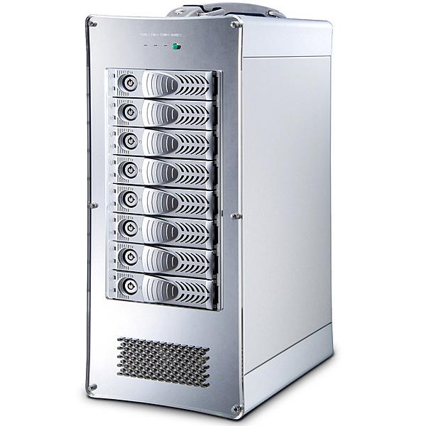 【送料無料】キングテック NetStor NA762TB3 Desktop 8bay Thunderbolt3 RAID storage 300W single PSU Thunderbolt 2M cable 1本添付【在庫目安:お取り寄せ】