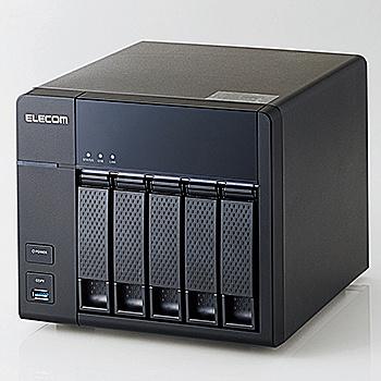 【送料無料】ELECOM NSB-7A16T5BL LinuxNAS/ 5Bay/ 4ドライブ版/ 16TB/ NetStor7シリーズ【在庫目安:お取り寄せ】| NAS RAID レイド