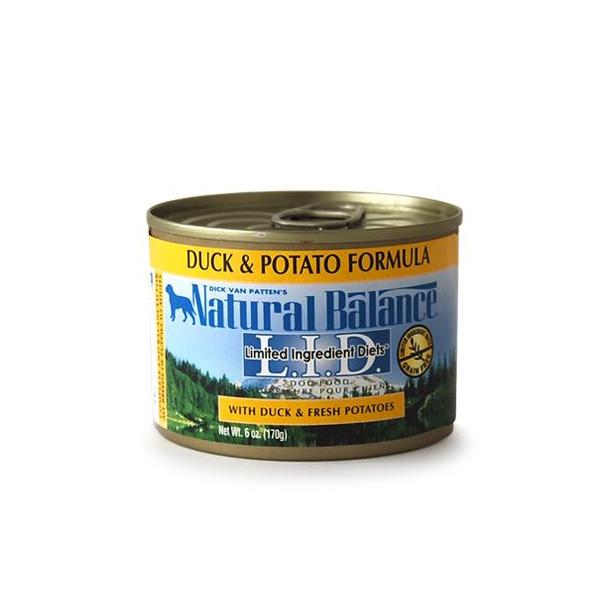 ナチュラルバランス ダック&ポテト缶 170g (24缶/1ケース) 【Natural Balance ウエット ドッグフード】 ○