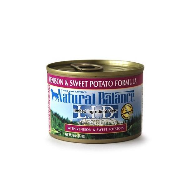ナチュラルバランス ベニソン&スウィートポテト缶 170g (24缶/1ケース) 【Natural Balance ウエット ドッグフード】 ○