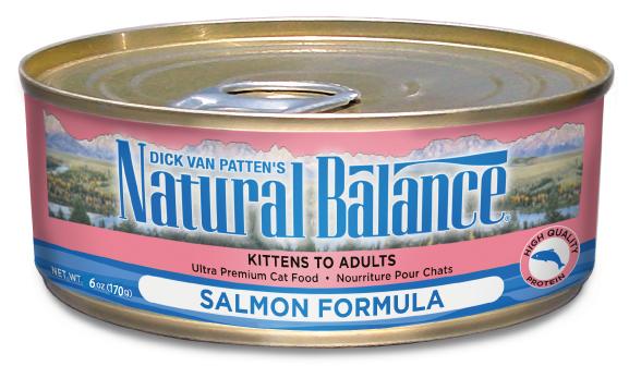 ナチュラルバランス サーモン 5.5オンス(156g)24缶 【ウルトラプレミアムキャット缶 ウエット キャットフード】 ○