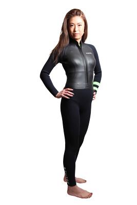 【お買い物マラソン期間中 全商品ポイント2倍】ウェットスーツ レディース スキン ラバー フルスーツ 3mm suo ヨガ サーフィン フロントファスナー 日本製 swipe wetsuits