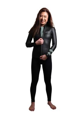 ウェットスーツ レディース スキン オーダー ラバー ロングジョン 長袖ジャケットのセット 2mm sup ヨガ サーフィン 日本製 swipe wetsuits