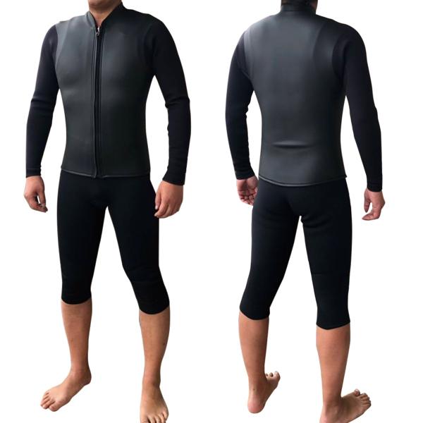 ウェットスーツ 7分丈 ロングジョン 長袖タッパー セット 2mm 送料無料 サーフィン