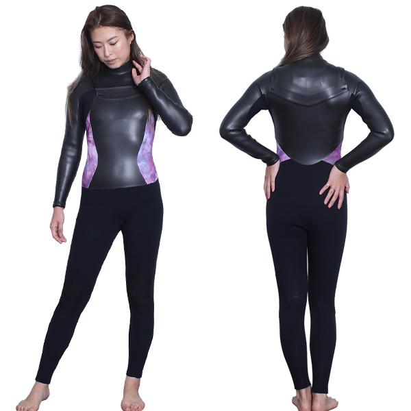 最新モデル レディースウェットスーツ セミドライ チェストzip swipe wetsuits オーダー 5mm 3mm 日本製 レディース セミドライ