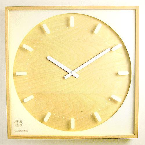 送料無料 【あす楽14時まで】 SNOW-SQUARE クロック [L] 《Da-01/L》 時計 【smtb-F】 時計 壁掛け おしゃれ 壁掛け時計 ウッド ウッド ウォッチ デザイン◇plywood オシャレ雑貨