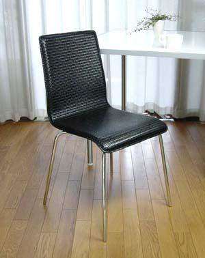【あす楽14時まで】 ダイニングチェア レザーメッシュブラック【送料無料】【smtb-F】◇(チェアー ダイニングチェアー リビング ダイニング チェア 椅子 いす イス レザー メッシュ おしゃれ plywood) デザイン オシャレ雑貨